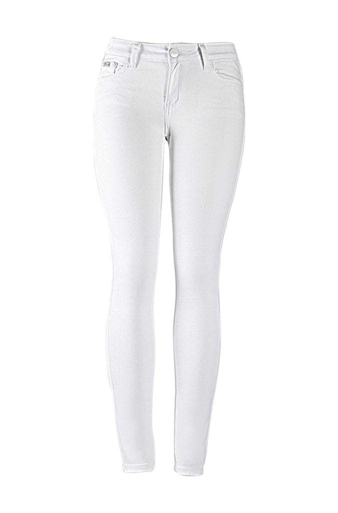 Stretchy 5 Pocket Skinny Jeans | 30% Off First Order | White