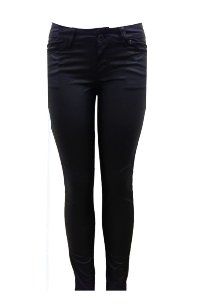 Faux Leather Coated Skinny Jeans | 30% Off First Order | Black