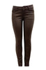 Faux Leather Coated Skinny Jeans | 30% Off First Order | Brown