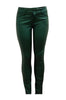 Faux Leather Coated Skinny Jeans | 30% Off First Order | Green