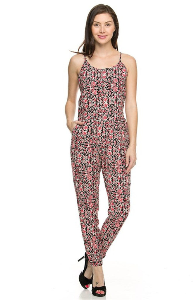 Sleeveless Abstract Print Slim Fit Jumpsuit - BodiLove | 30% Off First Order  - 2