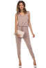 Sleeveless Knit Jumpsuit With Low Open Back | 30% Off First Order | Mocha