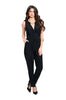 Sleeveless V-Neck Slim Fit Jumpsuit - BodiLove | 30% Off First Order - 1