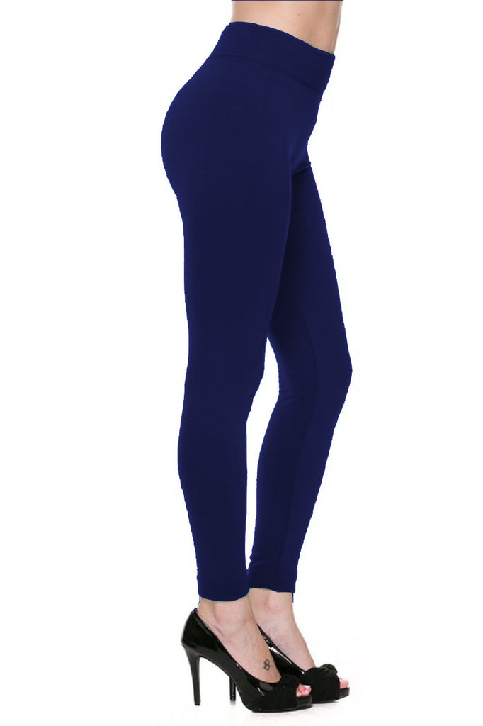 Trendy Solid Color Fleece Leggings - BodiLove | 30% Off First Order  - 7