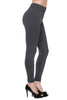 Trendy Solid Color Fleece Leggings - BodiLove | 30% Off First Order  - 10