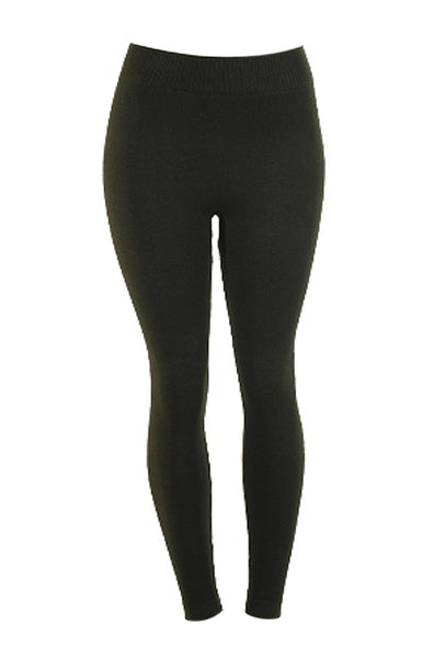 French Terry Stretch Knit Leggings | 30% Off First Order | Black