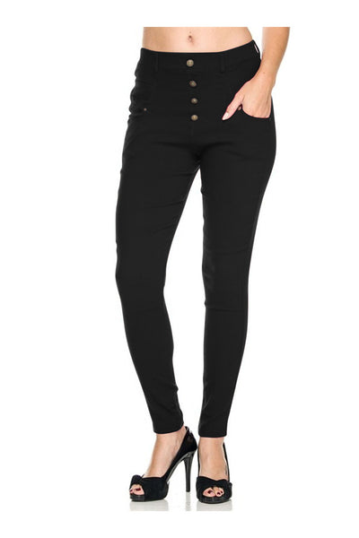 Tailored Millenium Skinny Dress Slacks - BodiLove | 30% Off First Order - 1 | Dark Black