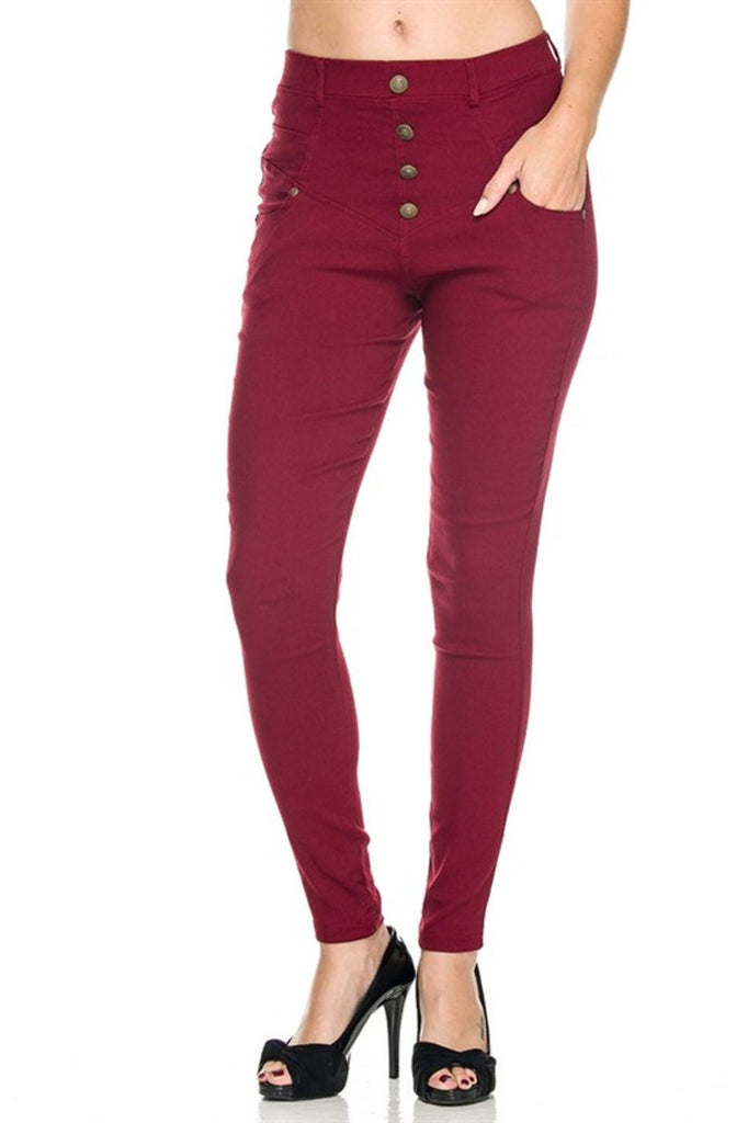 Tailored Millenium Skinny Dress Slacks - BodiLove | 30% Off First Order - 5 | Wine