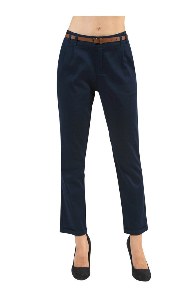 Tailored Professional Dress Pants W/ Belt - BodiLove | 30% Off First Order  - 2
