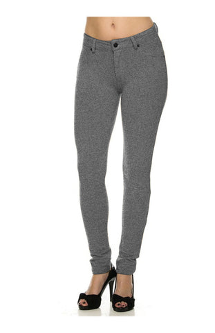 Low Rise Ponte Stretch Skinny Pants