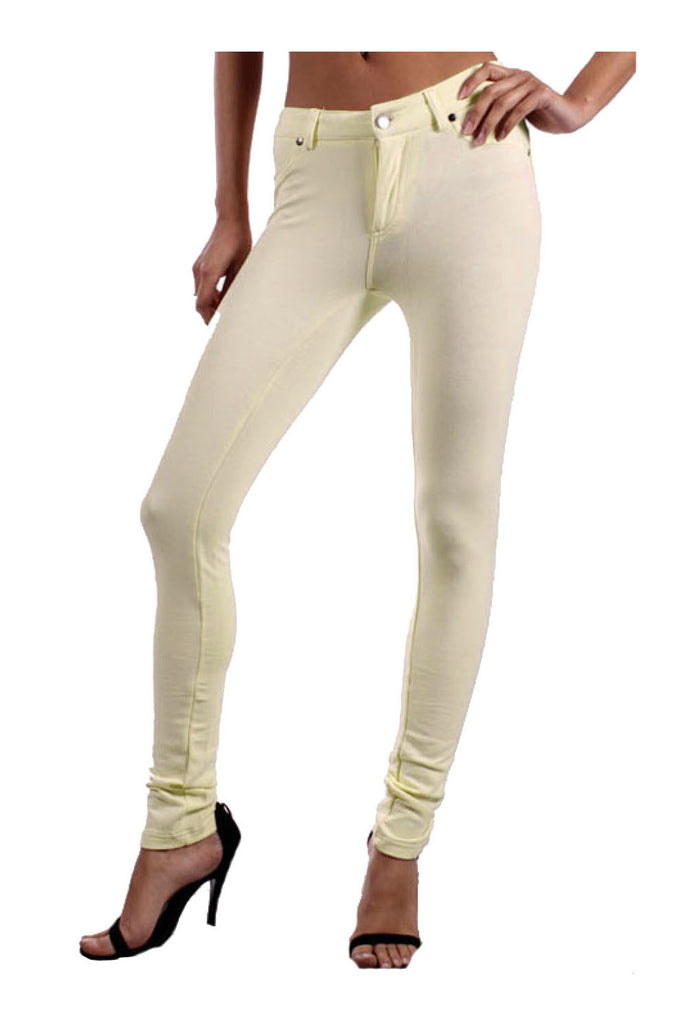 Low Rise Ponte Stretch Skinny Pants - BodiLove | 30% Off First Order  - 25