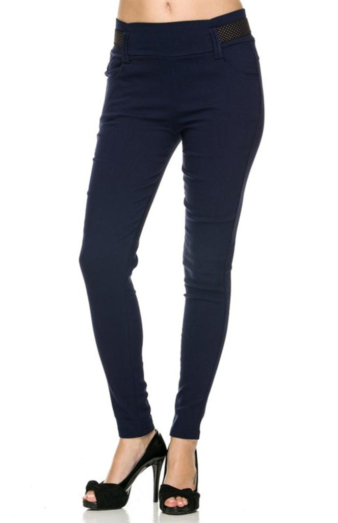 Stretch Belt Skinny Pants - BodiLove | 30% Off First Order - 1
