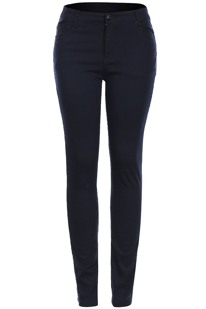 Trendy Skinny 5 Pocket Stretch Uniform Pants - BodiLove | 30% Off First Order  - 4