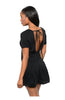 Short Sleeve V-Neck Romper W/ Open Back - BodiLove | 30% Off First Order  - 2