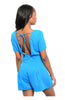 Short Sleeve V-Neck Romper W/ Open Back - BodiLove | 30% Off First Order  - 4