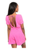 Short Sleeve V-Neck Romper W/ Open Back - BodiLove | 30% Off First Order  - 6