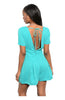 Short Sleeve V-Neck Romper W/ Open Back - BodiLove | 30% Off First Order  - 8