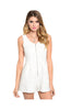 Sleeveless Textured Romper W/ Zipper Neckline - BodiLove | 30% Off First Order  - 1