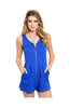 Sleeveless Textured Romper W/ Zipper Neckline - BodiLove | 30% Off First Order  - 3