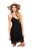 Spaghetti Strap Romper W/ Crochet Lace Trim | 30% Off First Order | Black3