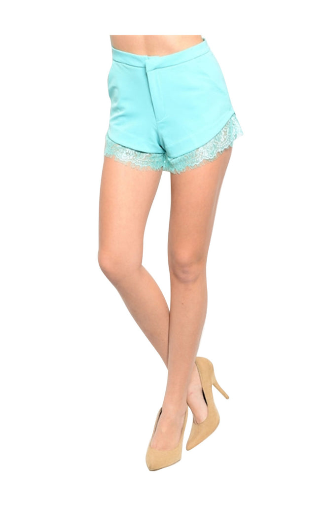 Dressy Chic Lace Trimmed Shorts - BodiLove | 30% Off First Order  - 1