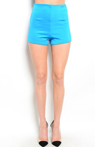 High Waisted Zipper Trim Tap Shorts