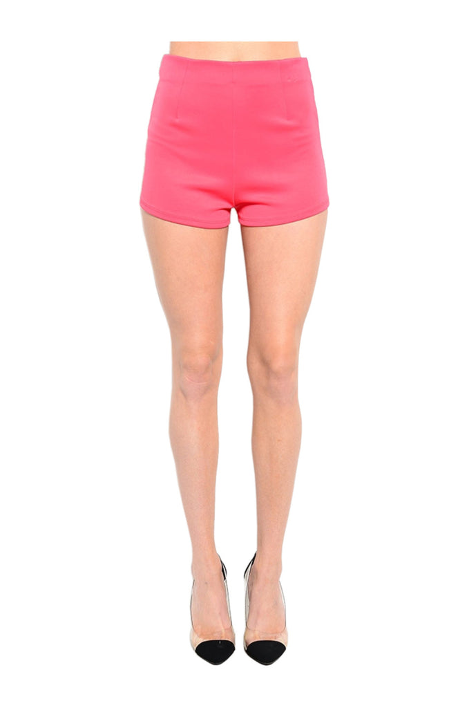 High Waisted Zipper Trim Tap Shorts - BodiLove | 30% Off First Order  - 3