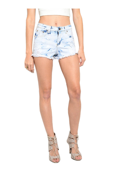 Cutoff High Waisted Denim Jean Shorts - BodiLove | 30% Off First Order  - 1