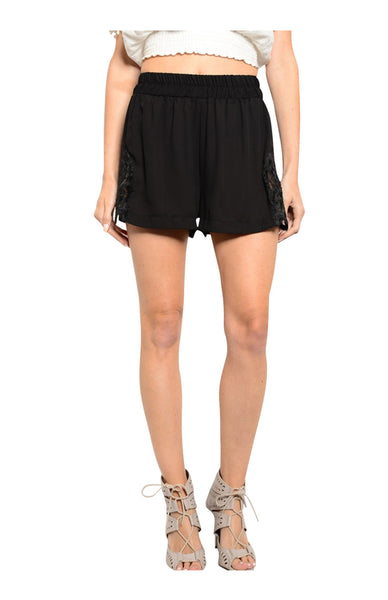 Trendy Boho Crochet Lace Trimmed Shorts - BodiLove | 30% Off First Order  - 1
