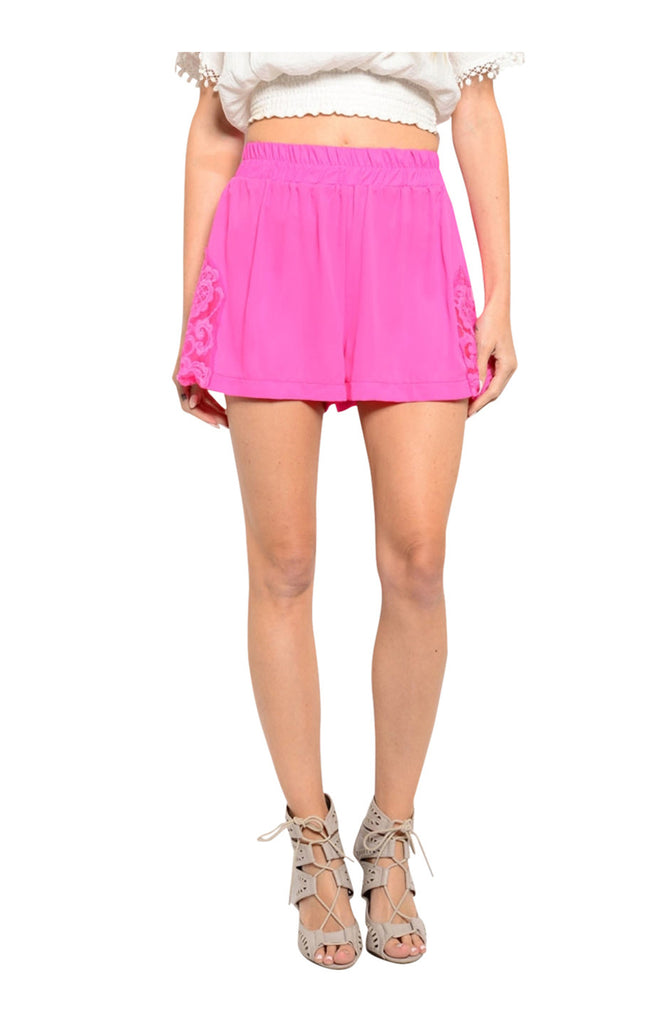 Trendy Boho Crochet Lace Trimmed Shorts - BodiLove | 30% Off First Order  - 2