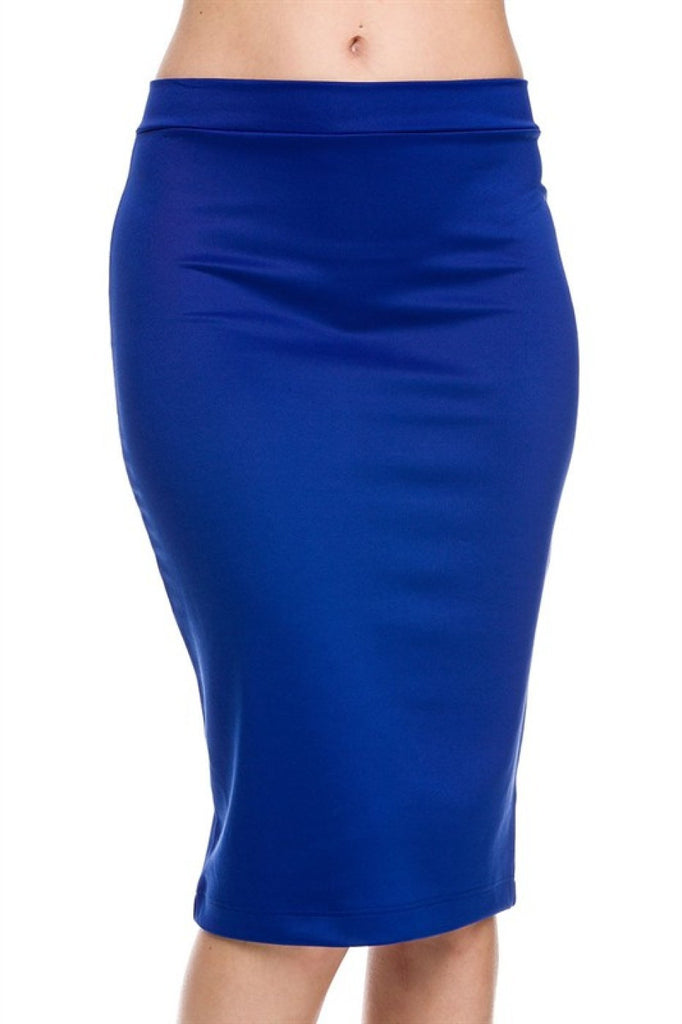 Bodycon Pencil Skirt with Back Slit - BodiLove | 30% Off First Order  - 4