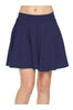 Solid Flared A-Line Skater Skirt - BodiLove | 30% Off First Order - 4 | Navy1