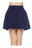 Solid Flared A-Line Skater Skirt - BodiLove | 30% Off First Order - 5 | Navy1
