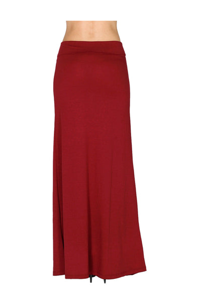 solid color high waisted maxi skirt bodilove fashion store