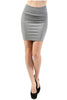 Solid Bandage Bodycon Mini Skirt - BodiLove | 30% Off First Order  - 3