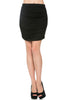 Dressy Ruched Bodycon Mini Skirt - BodiLove | 30% Off First Order  - 1