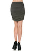 Dressy Ruched Bodycon Mini Skirt - BodiLove | 30% Off First Order  - 14