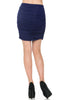 Dressy Ruched Bodycon Mini Skirt - BodiLove | 30% Off First Order  - 6