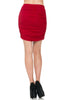 Dressy Ruched Bodycon Mini Skirt - BodiLove | 30% Off First Order  - 30
