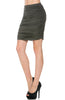 Dressy Ruched Bodycon Mini Skirt - BodiLove | 30% Off First Order  - 15