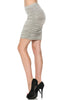 Dressy Ruched Bodycon Mini Skirt - BodiLove | 30% Off First Order  - 23