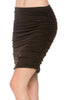 Dressy Ruched Bodycon Mini Skirt - BodiLove | 30% Off First Order  - 12