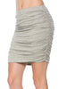 Dressy Ruched Bodycon Mini Skirt - BodiLove | 30% Off First Order  - 24