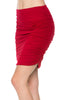 Dressy Ruched Bodycon Mini Skirt - BodiLove | 30% Off First Order  - 32