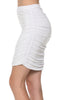 Dressy Ruched Bodycon Mini Skirt - BodiLove | 30% Off First Order  - 40