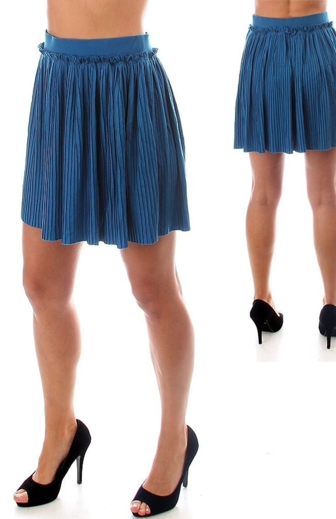 Pleated Mini Skirt With Waistband - BodiLove | 30% Off First Order  - 2