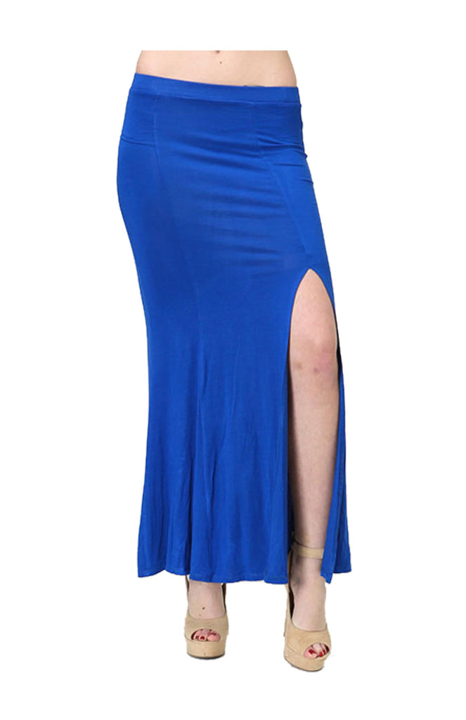 Solid Color Maxi Skirt W/ Side Slit Detail - BodiLove | 30% Off First Order  - 5