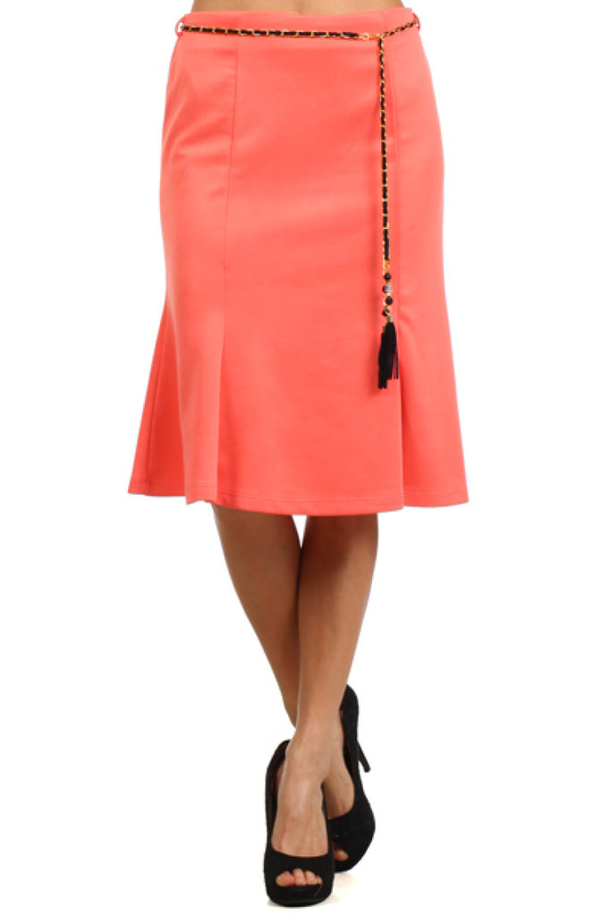 High Waisted Flared A-Line Knee Length Skirt - BodiLove | 30% Off First Order  - 17