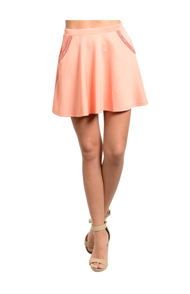 Fit & Flare Skater Skirt W/ Beaded Pockets - BodiLove | 30% Off First Order  - 3