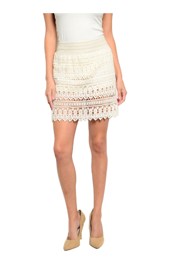 Dressy Crochet Lace Pencil Skirt - BodiLove | 30% Off First Order  - 3